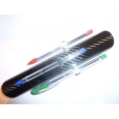 Porte stylos clipsable en carbone pour arceau